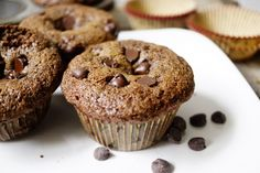 Chocolate Chocolate Chip Muffins (112 calories)