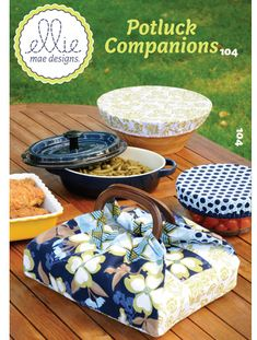 KWIK Sew - Ellie Mae Designs 104 - Potluck Companions casserole carrier and bowl covers sewing pattern