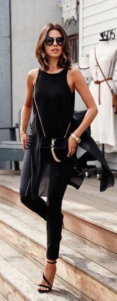 #street #style fall / casual all black outfit