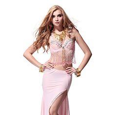 Lantejoulas dancewear com borlas Top Dança do Ventre para senhoras mais cores – BRL R$ 60,17