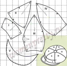 How to make your own hands cap Hat Patterns To Sew, Doll Clothes Patterns, Doll Patterns, Knitting Patterns, Sewing Patterns, Sewing Hacks, Sewing Projects, News Boy Hat, Pattern Drafting