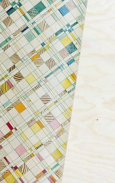 Endgrain by Raw-Edges design Studio Graphic Patterns, Textile Patterns, Cool Patterns, Print Patterns, Geometric Patterns, Journal D'inspiration, Patterned Furniture, Decorative Wall Panels, Diy Art Projects