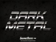 GraphicRiders | Metal style – Dark Metal (free photoshop layer style, text effect) #graphicriders