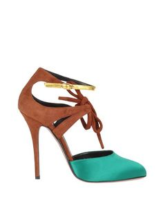 Always like the color combination brown/caramel and turquoise/teal! -> vionnet. fab shoes.
