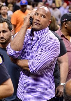 Dwayne Johnson Photos - Dwayne Johnson Takes His Daughter to a Game - Zimbio