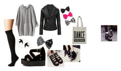 """""""back to black"""" by luuuuudmi on Polyvore featuring moda, Plush, ALPHABET BAGS, SouthBay Shoes, claire's y WithChic"""