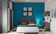 Transform your home into a calm oasis with the versatile teal paint colour. Doesn't the shade transport you to a tropical beach for seaside fun and frolic? // teal blue colour // teal paint colors for walls // teal blue wall paint // teal paint colors for living room // teal color decor #paintcolor #paintingideas #tealblue #tealbluewallcolor #tealbluepaintcolorsforwalls #tealpaintcolorsforlivingroom Bedroom Wall Paint Colors, Teal Paint Colors, Blue Wall Colors, Popular Paint Colors, Room Wall Painting, Paint Colors For Living Room, Blue Painted Walls, Teal Walls, Wall Paint Colour Combination