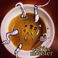 #photoshop #illustrazione #paint #photo #coffee #caffe #foto #disegno #mostro #monster #dream #nightmare #sogno #incubo