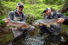 Not your average double! Paulo and Alex (@flybei_fly_fishing) managed to hook these two slobs in two adjacent pools. The brownt trout went straight upstream into the riffles while the bow pulled Paulo downstream on his three weight. Both fish were literally netted within 50 ft. Pretty unbelievable. Both fish fell for a micro nymph... @hatchoutdoors  @fulling_mill  @cortlandline  #flyfishingnation #browntrout #trout #germany #nymphing #doubleteam #fishing #flyfishing #fishinglife #fishingtrip…