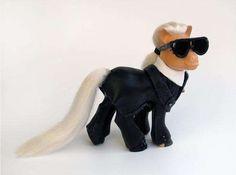 Karl Lagerfeld Inspired Pony Sculpture - Karl Lagerfeld - Zimbio