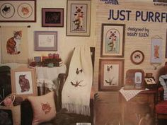 Just Purrfect Mary Ellen Designs Leisure Arts Cross Stitch Chart Design 453 Needlepoint Patterns, Cross Stitch Patterns, Sewing Patterns, Chart Design, Sally, Gallery Wall, Animal, Embroidery Patterns, Stitching Patterns