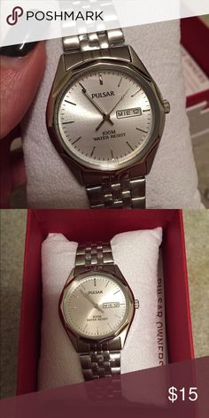 Men's Pulsar Watch Never worn- still in the box with warranty and registration info. Accessories Watches