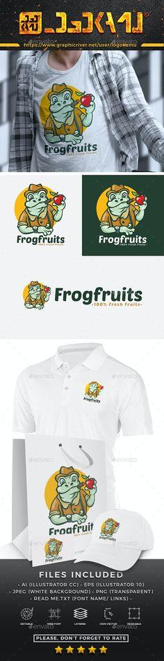 Frog Cartoon Logo - Animals Logo Templates Get it now!! #logo #designlogo #logos #logodesign #logopremium #brand #branding #business #company #abstract #creative #mascot #designoflogo #thelogo #thedesign #logotemplate #print #logocompany #logoesport #logoanimal #logoabstract #envato #envatomarket #graphicriver #premiumdesign #creativemarket #freepik #shutterstock #behance #dribbble
