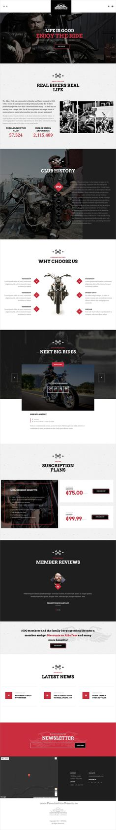 Bikersclub is clean and modern design 3in1 responsive #WordPress theme for #motorcycle and #bikes clubs website with shop download now..