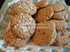 Almond Butter Cookies net carbs per cookie! -from Buttoni's Low Carb Recipes-please add to the ingredient list: ¼ c. Low Carb Deserts, Low Carb Sweets, Healthy Sweets, Healthy Baking, Healthy Meals, Healthy Recipes, Gluten Free Cookie Recipes, Low Carb Recipes, Atkins Recipes