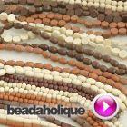Tutorial - Videos: Wood Beads Show and Tell.  Add a bohemian look to your handmade jewelry with natural materials like wooden beads.