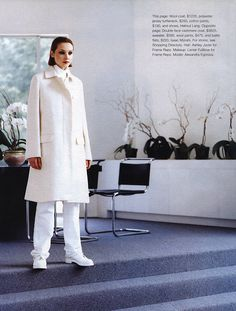 """Fall's New Feel"", Marie Claire US, September 1998Photographer : Patrick DemarchelierModel : Alexandra Egorova Happy birthday, Alexandra! (November 26, 1973, 41 today)"