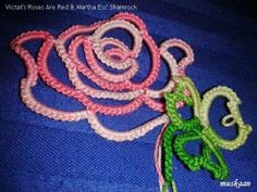 Roses are Red designed by Victats along with Shamrock folding rings pattern by Martha Ess .... free patterns at respective sites .