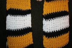 Hand-knit Boston Bruins/Pittsburgh Steelers/Pittsburgh Pirates/Pittsburgh Penguins scarf