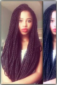 Senegalese twists. will be trying these as my next hairstyle. :-)