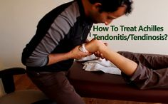 Achilles tendon treatment using scar tissue mobilization and massage. Achilles tendonitis or Achilles tendinopathy / tendinosis (degeneration of the tendon) can often occur after an injury or because of overuse. #health #fitness #pain #relief #exercise #painspot #workout #sports #healthylife #injury #runners #technique #treatment #muscles