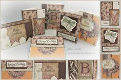 What are you doing with your SCRAPS?.... cards by Julie Carriere using CTMH Buzz and Bumble paper scraps!.... (change sentiments)