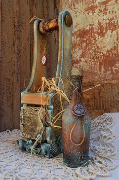 Новости Wood Wine Racks, Wine Glass Rack, Bar Cart Decor, Creative Box, Decoupage Box, Stencil Patterns, Altered Bottles, Old Paintings, Diy And Crafts