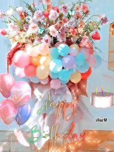 Happy Birthday Flowers Gif, Happy Birthday Artist, Happy Birthday Video, Happy Birthday Wishes Images, Butterfly Birthday Party, Happy Birthday Celebration, Birthday Wishes Funny, Happy Birthday Candles, Happy Birthday Pictures