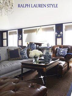 Coastal Style: Ralph Lauren in Navy & Brown