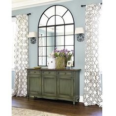 master inspiration - chest is same as walls, black accents, blue accents, lots of white, drapery is BD Firenze Embroidered Panel