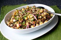 Vega: Linzen-kikkererwt salade met feta | NSMBL.nl