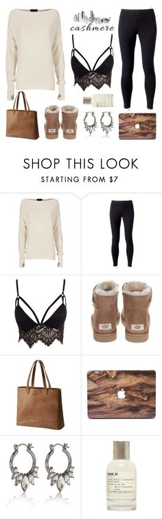 """""""Fluffy & Warm"""" by lysianna ❤ liked on Polyvore featuring Exclusive for Intermix, Jockey, Club L, UGG, SOREL, River Island and Le Labo"""