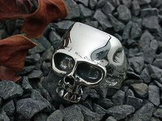 Silber Totenkopf  Ring, Skull, Schädel, Bikerschmuck, Gothic,Sterling Silber 925