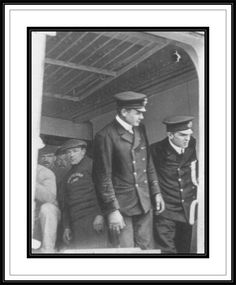 First and Second Officers E Deck gangway, original photo very fuzzy