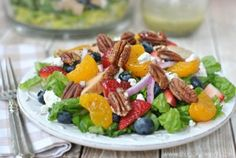 Sweet and Simple Spring Baby Shower Menu: Chicken, Strawberry and Pecan Salad