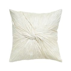 Add a pop of style to your sofa, arm chair, or window seat with this lovely pillow, showcasing a ruched design in white.  Product: