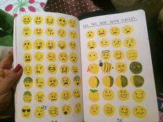 draw how you feel in emoji! Don't duplicate emojis