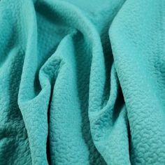 """Novelty """"Bows"""" Matellassé Doubleknit - Blue Curaçao - Gorgeous FabricsGorgeous Fabrics $12/yard"""