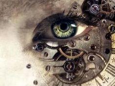 Steampunk close up eye art Eyes Artwork, Crazy Eyes, Beautiful Eyes, Amazing Eyes, Eye Art, Dieselpunk, Art Plastique, Illuminati, Steampunk Fashion
