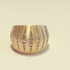 bursting at the seams... with #diamonds! #fashion #jewelry #yellowgold #statementjewelry #ring #cocktailring #modern #design #accessories