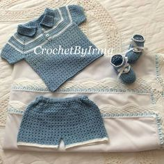 Boy Crochet For Boys, Boy Crochet, Baby Dress Patterns, Crochet Baby Clothes, Crochet Bikini, Bikinis, Swimwear, Chloe, Baby Boy