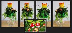 Super Mario Bros wedding bouquet  by CroKittyCats, via Flickr