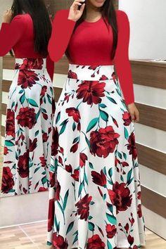 Short Sleeve Floral Print Maxi Dress - 27 ( and more) dresses - Saias Vetement Fashion, Trend Fashion, Fashion Fashion, Fashion Brands, Fashion Online, Fashion Ideas, Fashion Black, London Fashion, Fashion Styles