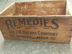 Wooden Box Wooden Crate Antique Medical by RagtagStudio on Etsy, $65.00