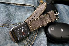 <!--:en-->Handmade Vintage Leather Strap incl. Lugs Adapter for Apple Watch (or Apple Watch Sport) 42mm or 38mm<!--:-->