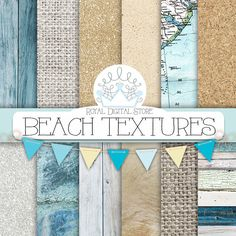 """Beach Digital Paper: """" BEACH TEXTURES"""" with wood texture, marble texture, burlap, linen, gold background, sea textures for scrapbooking #blue #shabbychic #summerdigitalkit #digitalpaper #scrapbookpaper #woodtexture #mint #planner #partysupplies #texture #distressedwood"""