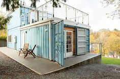 High cost of traditional housing in Seattle piloted Julianna Carlson, a Delridge resident to build a shipping container home as her first… Tiny House Shipping Container, Sea Container Homes, Container House Design, Shipping Containers, Cargo Container, Container Architecture, Sustainable Architecture, Residential Architecture, Contemporary Architecture