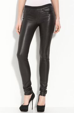 Helmut Lang Lambskin Leather Leggings available at #Nordstrom
