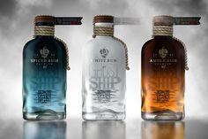 Ghost Ship Rum concept packaging by Galya Akhmetzyanova & Pavla Chuykina