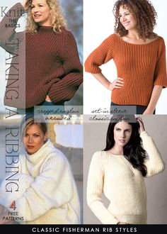 Fisherman rib stitch - free patterns by DiaryofaCreativeFanatic - with video tutorials for right and left handed knitters